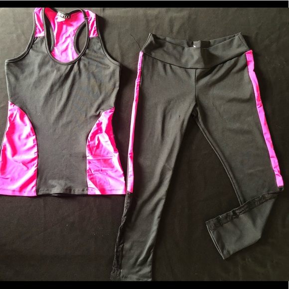 Thriller Pants - Racer Tank and Lace insert leggings